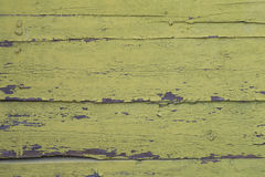 Старая зеленая пакостная деревянная стена Стоковое Изображение RF