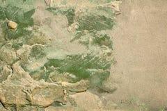Старая зеленая текстура стены Стоковые Фотографии RF