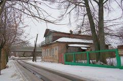 Старая зима дома Стоковые Изображения RF