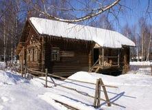 старая зима села Стоковое Изображение