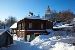 старая зима улицы Стоковое Изображение
