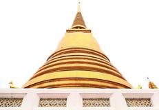 Старая золотая пагода в виске Таиланда Стоковая Фотография