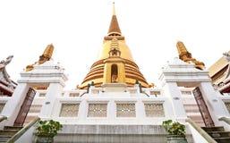 Старая золотая пагода в виске Таиланда Стоковые Фото