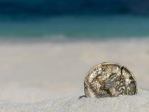 Старая золотая монетка Стоковое Изображение RF
