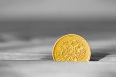 Старая золотая монетка Стоковые Изображения