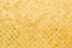 Старая золотая стена мозаики Стоковые Изображения