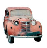 старая изолированная автомобилем Стоковые Изображения