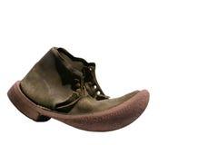 старая изолированная ботинком кожаная стоковые изображения rf