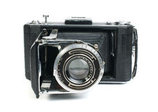 Старая изолированная белизна камеры год сбора винограда Стоковая Фотография RF
