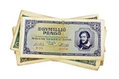 Старая изолированная валюта pengo венгра миллиона Стоковое Фото