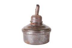 Старая изолированная масляная лампа на белой предпосылке Стоковая Фотография RF