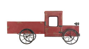 Старая изолированная тележка игрушки металла Стоковое Изображение