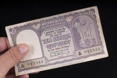 Старая индийская банкнота Стоковые Фото