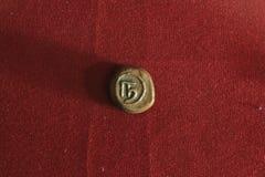 Старая индийская монетка Стоковая Фотография