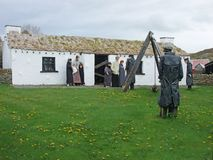Старая ирландская деревня Co голода Donegal стоковая фотография rf