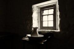 Старая ирландская спальня коттеджа Стоковое Изображение RF