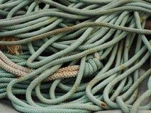 Старая используемая зеленая веревочка Стоковое фото RF