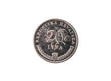 Старая используемая и, который носимая вне монетка lipa 20 Стоковые Фотографии RF