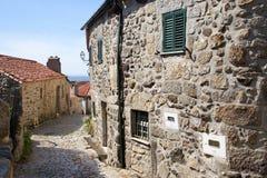 Старая историческая деревня Linhares da Beira в Португалии Стоковое Изображение RF