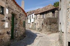 Старая историческая деревня Linhares da Beira в Португалии Стоковые Фотографии RF
