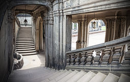 Старая историческая каменная лестница Стоковое Изображение