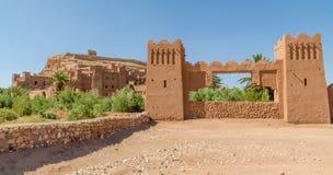 Старая историческая помощь Бен Haddou где гладиатор и другие кино были сняты, Марокко городка глины, Северная Африка Стоковое Изображение RF