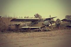 Старая история СССР An2 Antonov самолета Стоковые Изображения