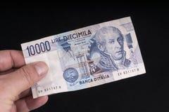 Старая итальянская банкнота Стоковое Фото