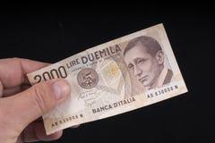 Старая итальянская банкнота Стоковые Изображения RF
