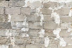 Старая и выдержанная серая предпосылка текстуры кирпичной стены блока ветерка бетонной плиты или гари Стоковая Фотография RF