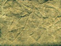 Старая и естественная мешковина Сморщенный холст Стоковые Изображения RF