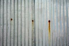Старая и железная ржавая гальванизированная текстура и цвет плиты Стоковые Фотографии RF