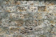 Старая и изрезанная стена ограждая реку Сену Стоковая Фотография RF