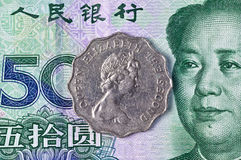 Старая и новая валюта Гонконга Стоковое фото RF
