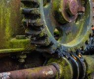 Старая и ржавая шестерня в солнечном свете Стоковая Фотография RF