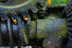 Старая и ржавая шестерня в солнечном свете Стоковые Фото
