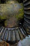 Старая и ржавая шестерня в солнечном свете Стоковая Фотография