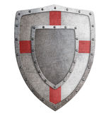 Старая иллюстрация templar или крестоносца металла экрана 3d иллюстрация вектора