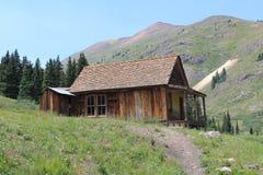 Старая кабина в вилках Animas стоковое фото