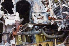 Старая кабина разбила самолет русского Стоковые Фотографии RF