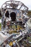 Старая кабина разбила самолет русского Стоковая Фотография RF