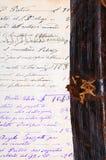 Старая каллиграфия стоковое изображение