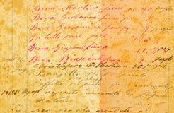Старая каллиграфия стоковое изображение rf