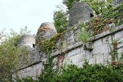 старая каменная стена времени Стоковое Изображение RF