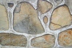 Старая каменная стена Грубые камни различных форм камень предпосылки детальный реальный очень Стоковая Фотография