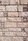 Старая каменная стена Грубые камни различных форм камень предпосылки детальный реальный очень Стоковое Изображение RF