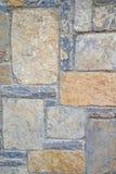 Старая каменная стена Грубые камни различных форм камень предпосылки детальный реальный очень Стоковые Изображения