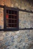 Старая каменная стена и деревянное окно Стоковые Изображения RF