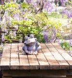 Старая каменная лягушка Стоковые Изображения