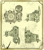 Старая камера. иллюстрация вектора